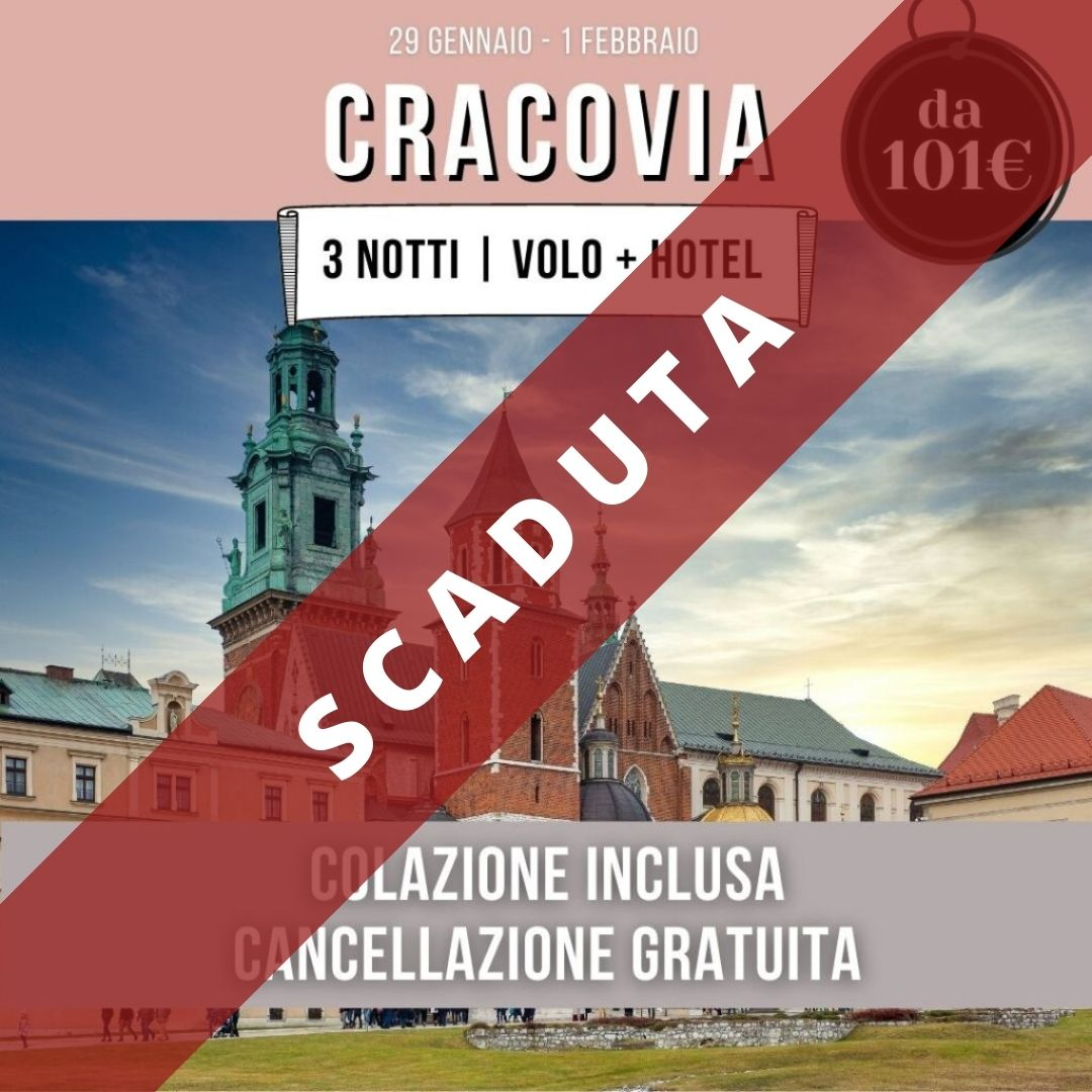offerte-cracovia-2021-volo-hotel