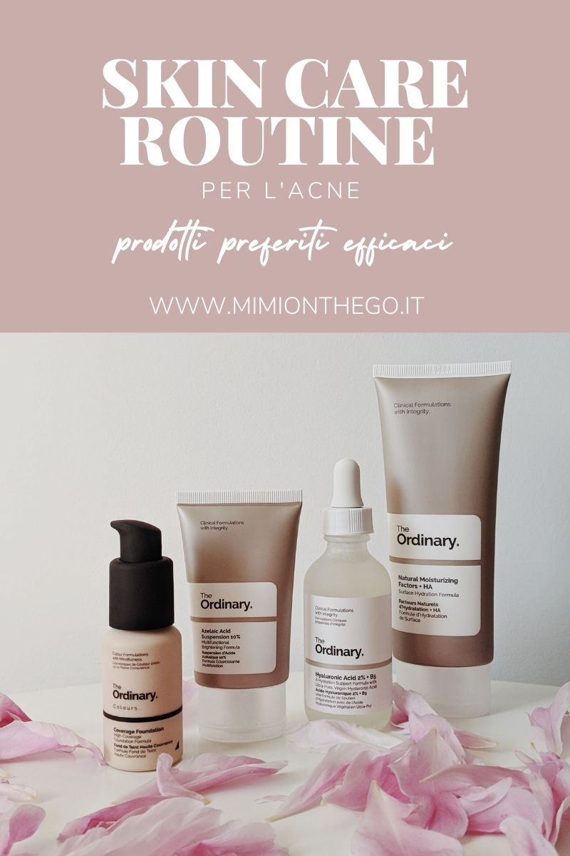 skin care routine acne